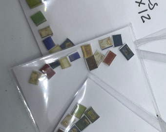 Dolls House 1/48th  Books x12  (assorted)  - NEW SPRING 2018
