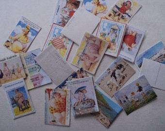 Dolls House Miniatures - 1/12th Seaside Postcards
