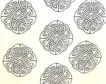Celtic Knot Fabric Etsy
