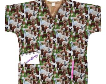 75f696818a2 Alpaca Scrub Top/Alpaca Mom Gift/Clothing/Tops and Tees/Alpaca Lover  Gift/Alpaca Print Scrub Top/Alpacas/Alpaca Print/Free Shipping in US