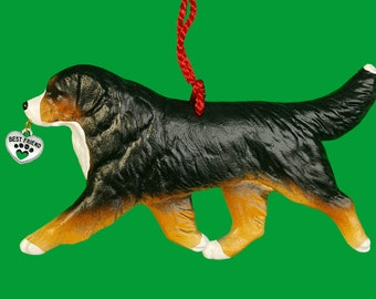 Bernese Mountain Dog Christmas Ornament by Hot Diggity Dog Fabrics Home and Living Home Decor Ornaments and Accents