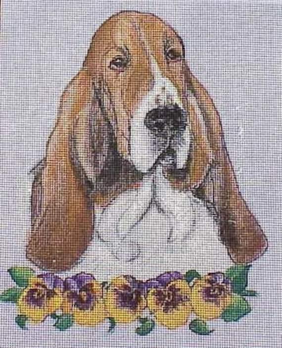 Basset Hound Needlepoint Belt DIY Canvas