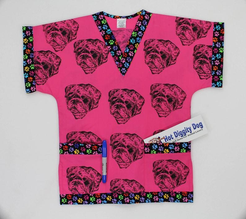 6620f3c5e1b Pug Dog Scrub Top/Women's Scrubs/Children's | Etsy