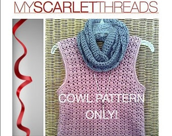 Mobius Cowl Pattern, Infinity Scarf Pattern INSTANT DOWNLOAD