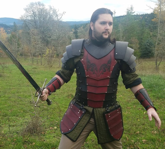 Heavy Leather Dragon Armor Etsy While wearing this magic armor, you gain a +2 bonus to ac. heavy leather dragon armor
