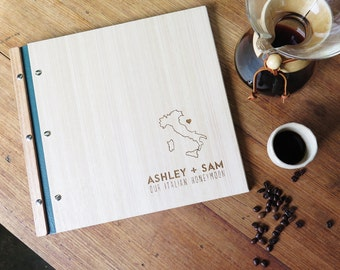 Photo Album. Honeymoon Album. Engagement Gift. Birthday Gift. Wood Anniversary. Baby Book. Scrapbook