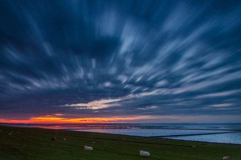 Nordstrand Sunset  Fine Art Landscape Photography Print image 0