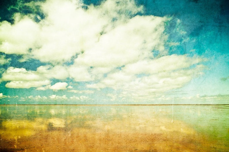 Summer clouds  Fine Art Photography Print on Metallic Paper image 0
