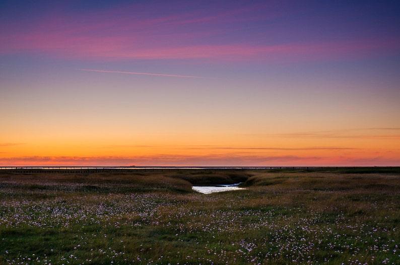 Westerhever after Sunset  Fine Art Landscape Photography image 0