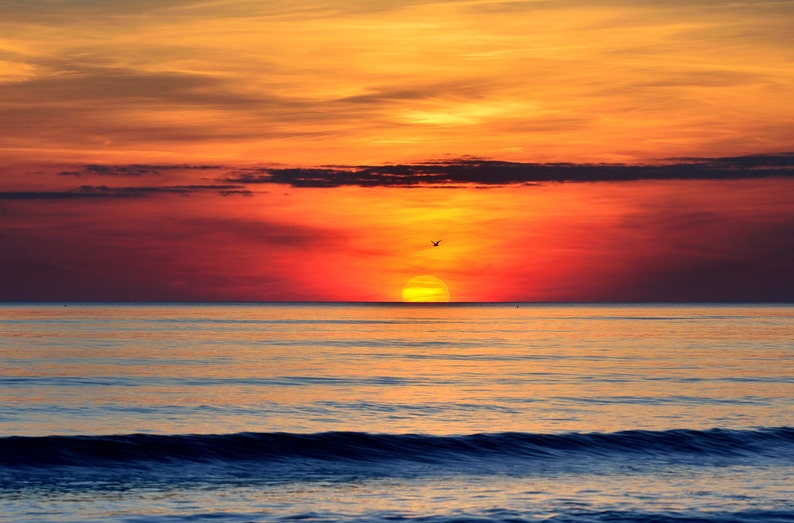 Henne Strand Sunset  Fine Art Landscape Photography Print image 0