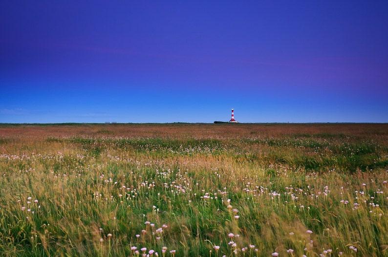 Westerhever Lighthouse after Sunset  Fine Art Landscape image 0