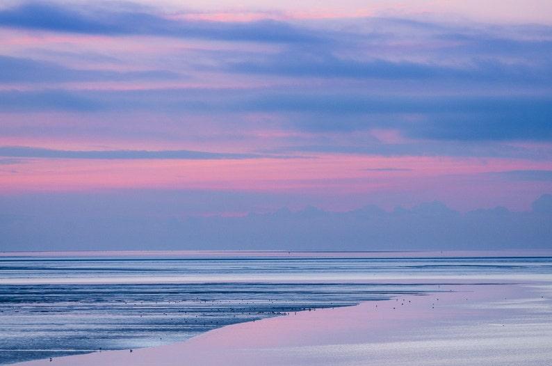 Low Tide after Sunset  Fine Art Landscape Photography Print image 0