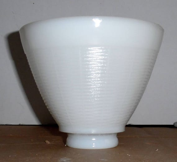 Vintage White Milk Glass Floor Lamp Shade Table Lamp Shade Etsy