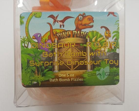 8 9 Toys For Birthdays : Dinosaur r.o.a.r bath bomb with toys inside xxl 8 9 oz etsy