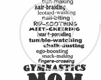Gymnastics Mom of a Girl  - Silhouette Cut File