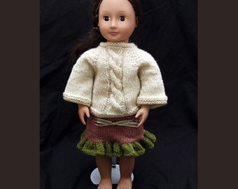 Two Skirts (knitting pattern) for 18 inch Dolls