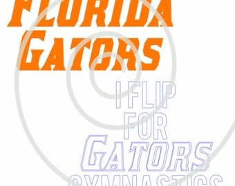 Florida Gator Gymnastics (#2)  - Silhouette Cut File