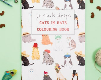 Cat Colouring Book Cats In Hats Activity Book Coloring Book