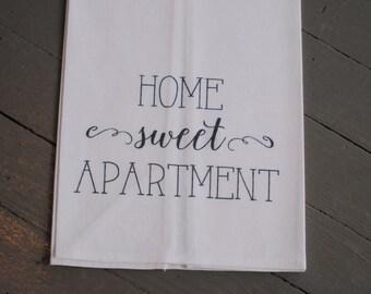 Home Sweet Apartment Flour Sack Tea Towel