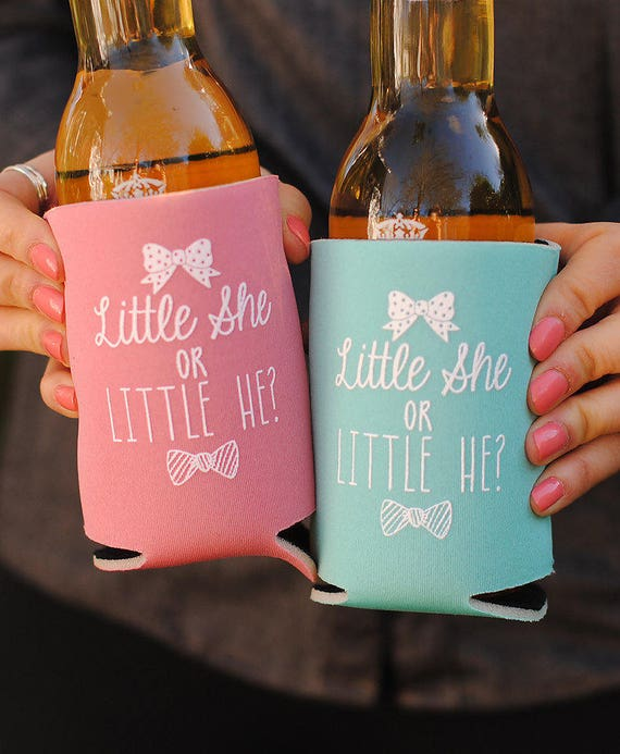Baby Shower Favors A Baby is Brewing Personalized Can Coolers Beer Insulators Stubby Holders Coed Gender Reveal Party Gifts