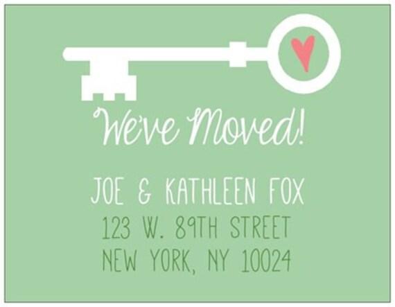 We Ve Moved Postcards Moving Postcards Change Of Address Cards Housewarming Gift Forwarding Address