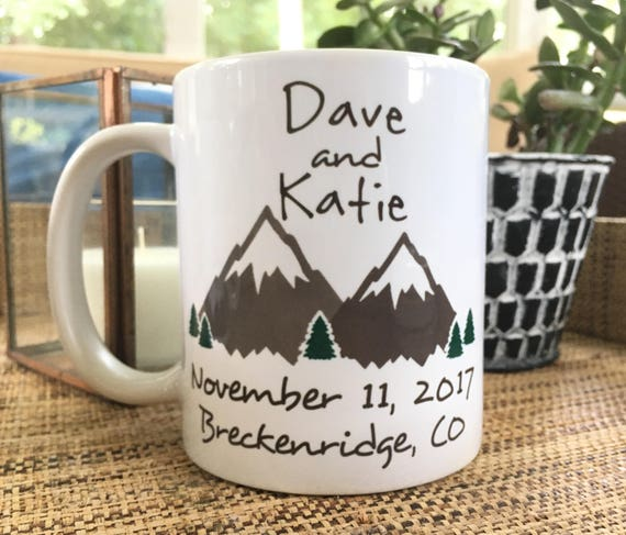 Mountain Wedding Favors Mugs Wedding Party Favors Wedding Etsy
