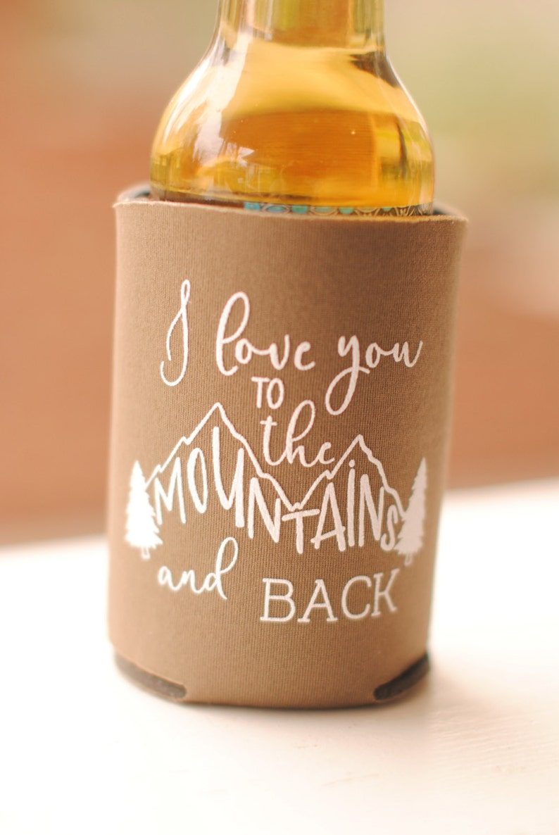 Fall Wedding Favors for Guests  Personalized Rustic Mountain image 0