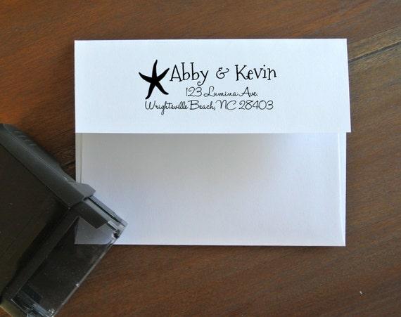 custom return address stamp for save the dates invitations etsy