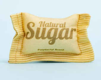 Brown Natural Sugar Cat Toy, Pet Lover, Diner, Coffee, Tea, Organic Catnip, Catnip Toy, Sweet Tooth, Cat Lover, Gift for Mom