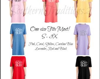 5341f788d3 Monogram Sleep Shirt - Bridal Sleep Shirt - Sorority Shirts - Personalized Sleep  shirt - Ladies Sleep Shirt