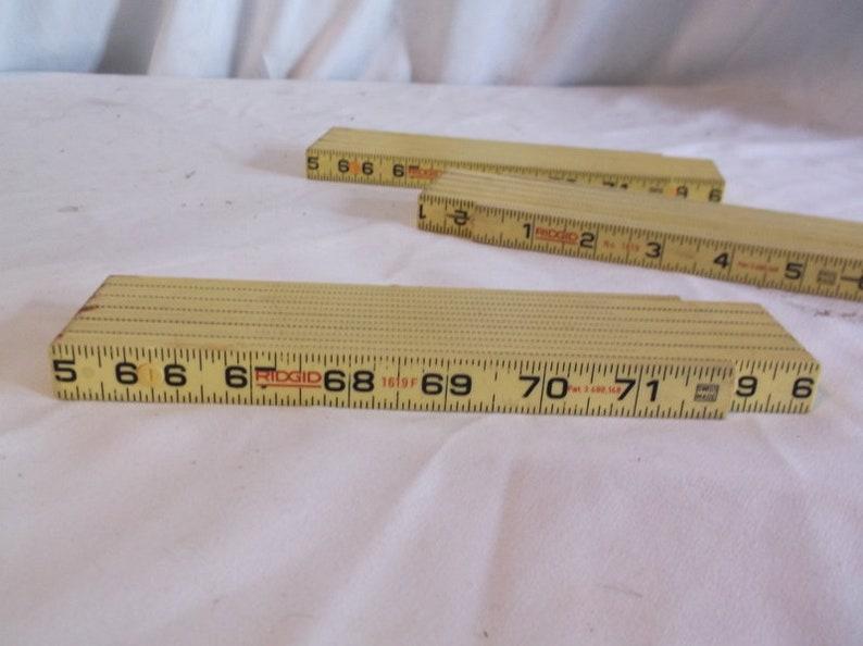 Rulers  lot of 3 folding rulers Plastic Ridgid Swiss Made No 1619 and 1619F FIberglass
