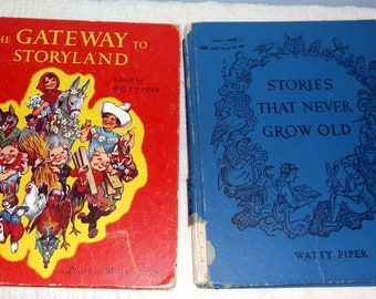 Vintage set of 2 Watty Piper Children's Story books The Gateway to Storyland and Stories That Never Grow Old Platt & Munk Classic Eulalie