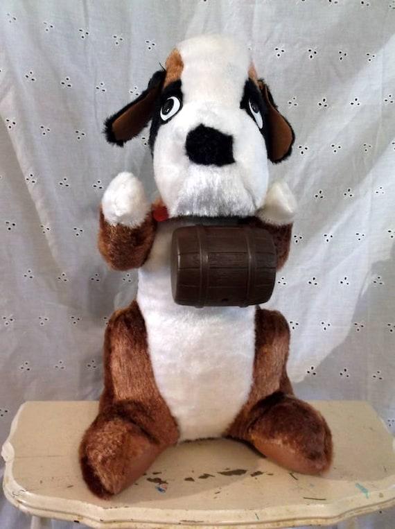 St Bernard Plush Dog Vintage Carnival Prize Saint Bernard St Etsy