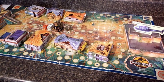 Board Game Vintage 1996 The Lost World Jurassic Park Board Etsy