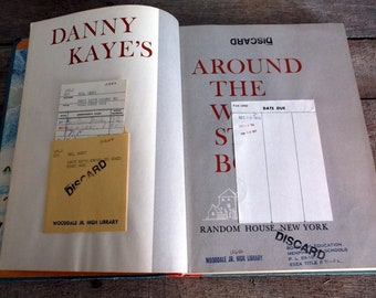 Vintage 1960 Danny Kaye's Around the World Story Book Children's stories Fables and Moral Stories from All Over the World