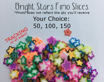Clay Sprinkles BIG Shooting Star Fimo Slices Resin Shakers Slime Topping Nail Art Polymer Clay Resin Art Fake Sprinkles