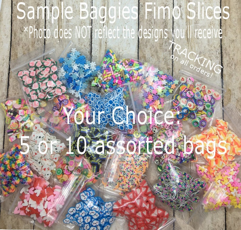 Random Sample Bag Fimo Slices  Sample Baggies Fimo Slices  image 0