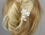 Bridal Lace Fascinator Hairpin Ivory