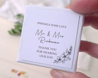 15 Boxes Biodegradable Personalised Confetti, Flower Petal Wedding Confetti