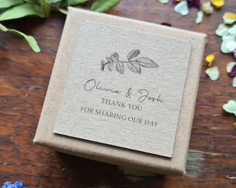 Wedding Confetti, Favours, Wedding Confetti Boxes, Personalised Filled Petal Confetti Boxes, Biodegradable Petal Confetti