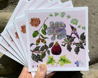 """Card Set of """"Polka Dot Plant and Fig"""""""