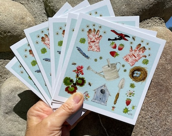 """Card Set of """"Of the Garden"""""""