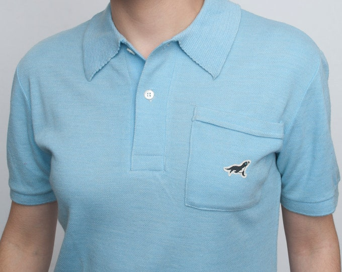 Blue Polo Shirt vintage deadstock