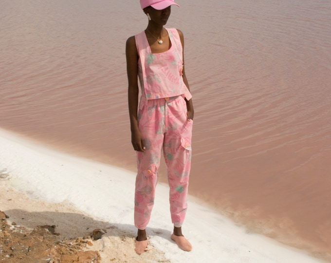 Vintage pink set top and trousers