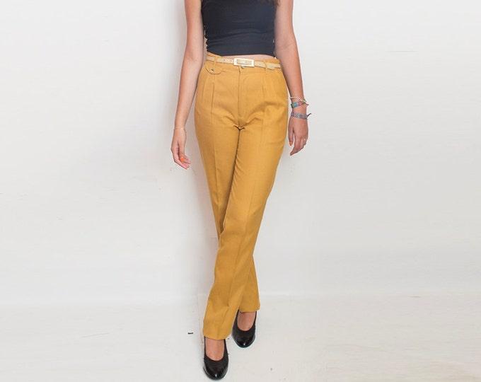 NOS Vintage 70's mustard pants trousers  size M