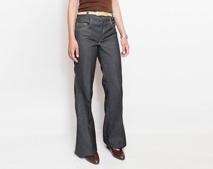NOS Vintage 70's black Jeans Denim trousers size S