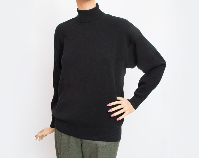 Vintage black sweater turtleneck deadstock