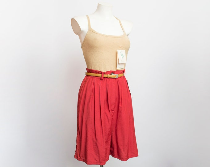 Shorts Vintage bermuda terracota red