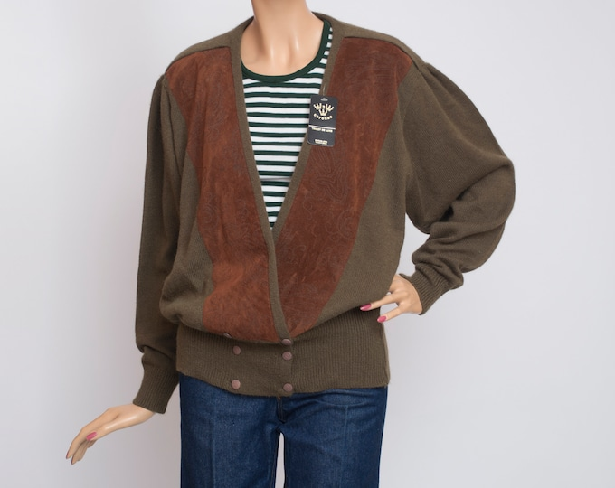 oversized cardigan sweater vintage deadstock