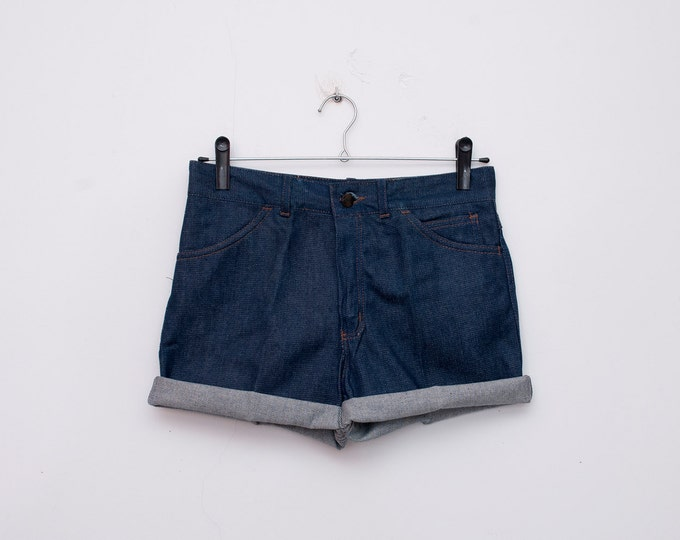 70s Dead stock Vintage Denim cut off Shorts Size S